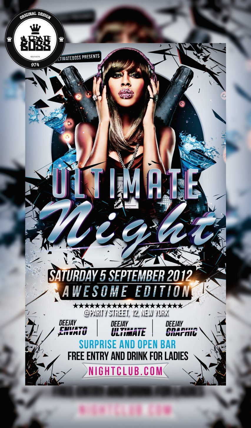 Party Flyer Graphic Templates PSD