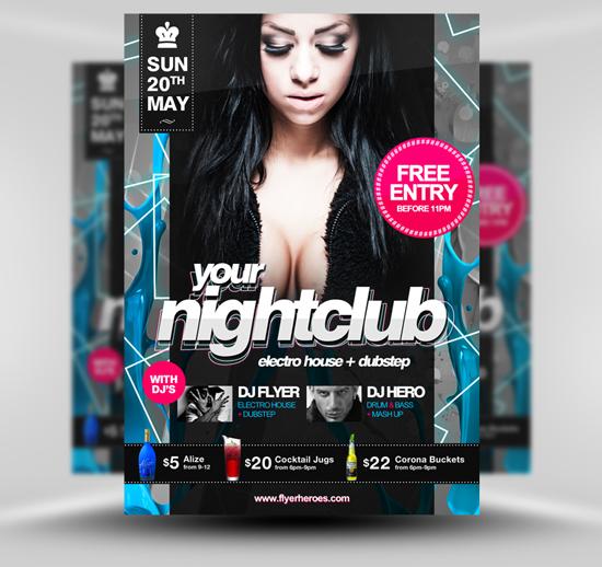 Nightclub Flyer Template PSD