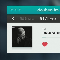 Radio Player Widget PSD