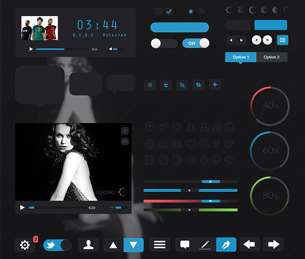 Carbon Black Web UI Elements Kit