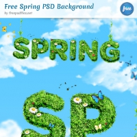 Free Spring Background PSD File