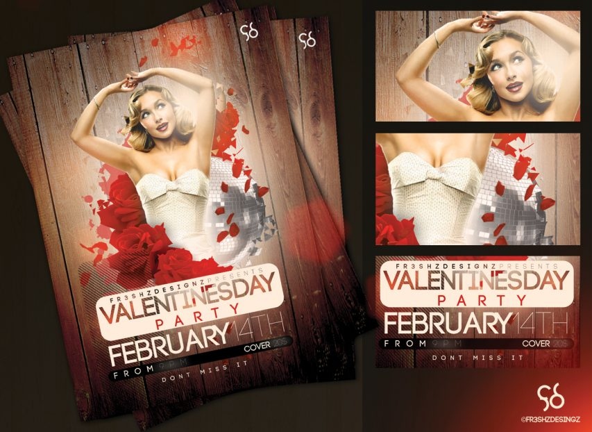 Valentines Day Flyer Templates Free PSD
