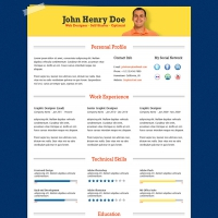 Professional Resume-CV Template PSD