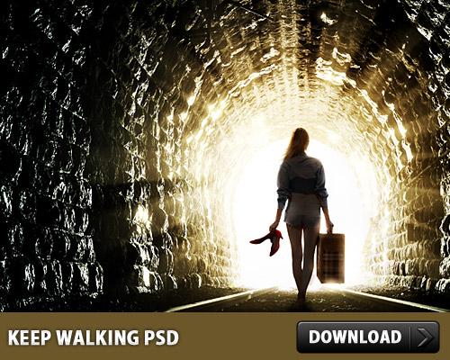 Keep Walking Free PSD