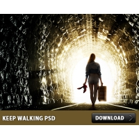 Keep Walking Free PSD