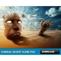 Surreal Desert Scene PSD