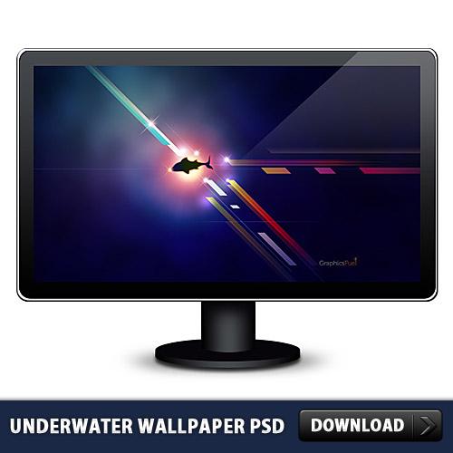 Underwater Free Wallpaper PSD