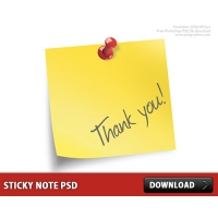 Sticky Note Free PSD