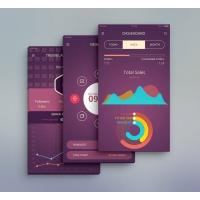 Mobile Application Admin Dashboard UI Free PSD