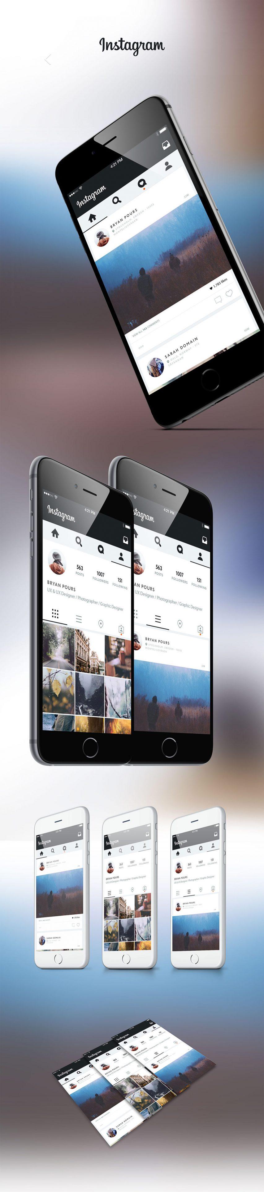 Instagram Application UI Revamp Concept Free