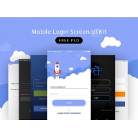 Mobile Login Screen UI Kit
