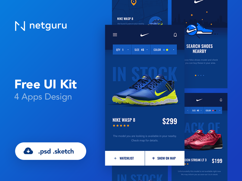 Shoes eCommerce Mobile App UI Kitu