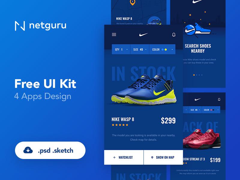 Shoes eCommerce Mobile App UI Kitu