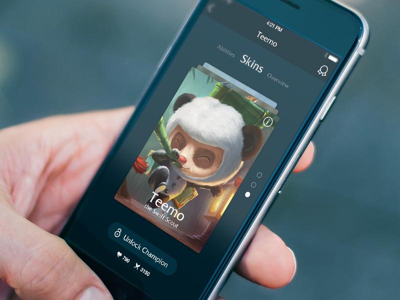 League Of Legends Mobile App Concept Free