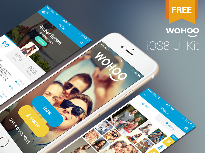 Full iOS8 UI Kit Templates Free