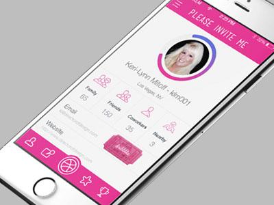 Pink iOS App Interface Design