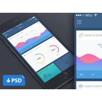 Clean Dashboard Mobile UI Template PSD