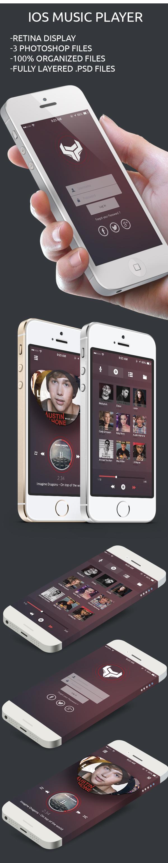 Music Player App PSD