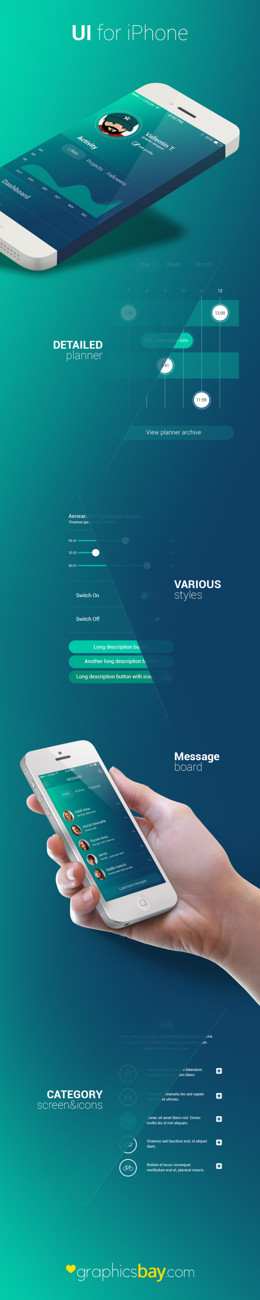Awesome iPhone Activity Application UI
