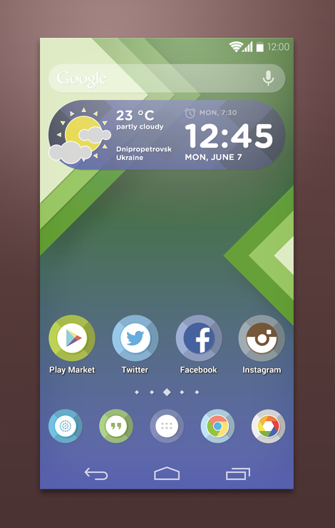 Custom Android Launcher Theme