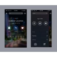 Google App UI Concept PSD