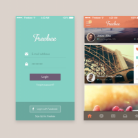Full Mobile App Screens Free PSD