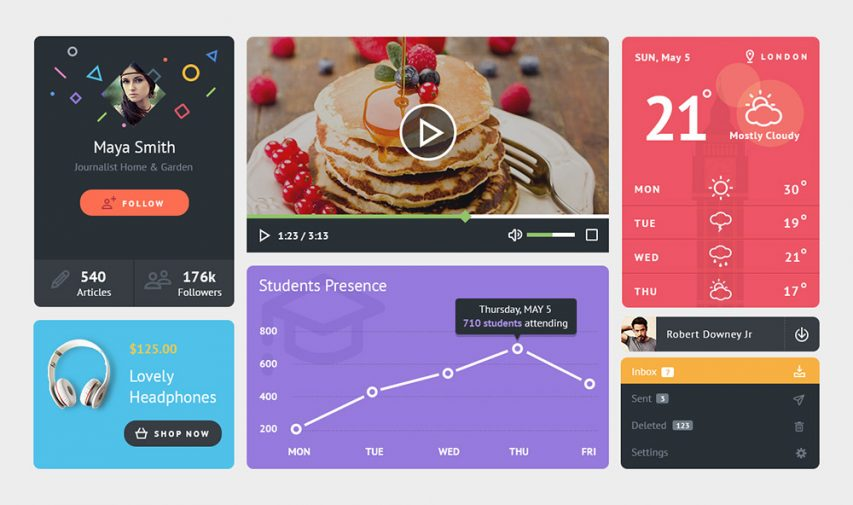 Colorful Widgets UI Kit Free