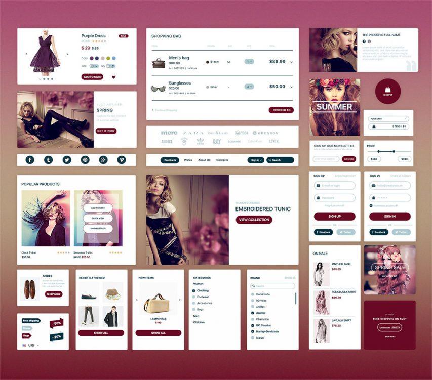 Elegant Fashion eCommerce UI Kit Free