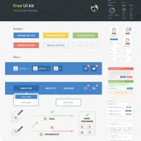 Social Media UI Elements Kit Free