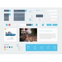 eCommerce Flat Elements Free UI Kit