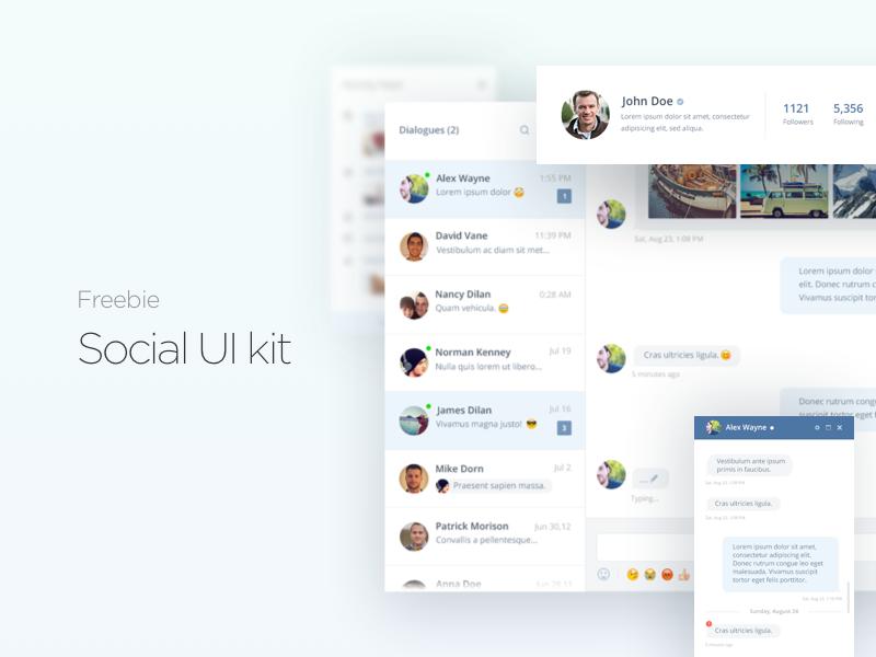 Social Media UI Kit Free