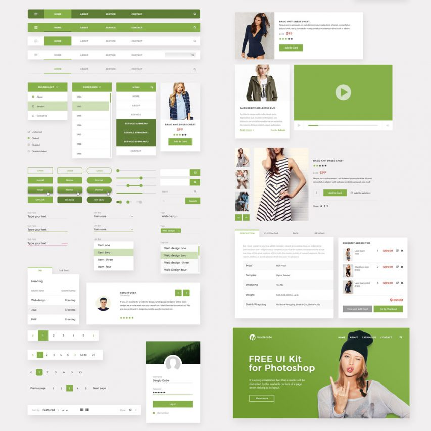 Material UI Kit PSD