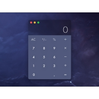 Dark Calculator Widget UI Free