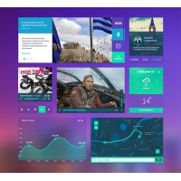Colored Flat And Simple UI Kit Free