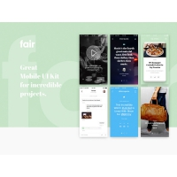 Clean Mobile App UI Kit Resource Free