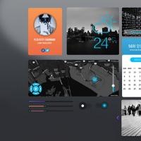 Flat Style Simple UI Elements Kit Free