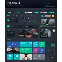 Dark UI Kit Components Free