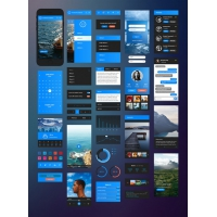 iPhone 6 IOS UI Kit Free