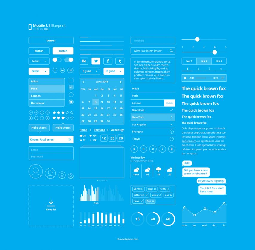 Mobile Blueprint UI Kit Free