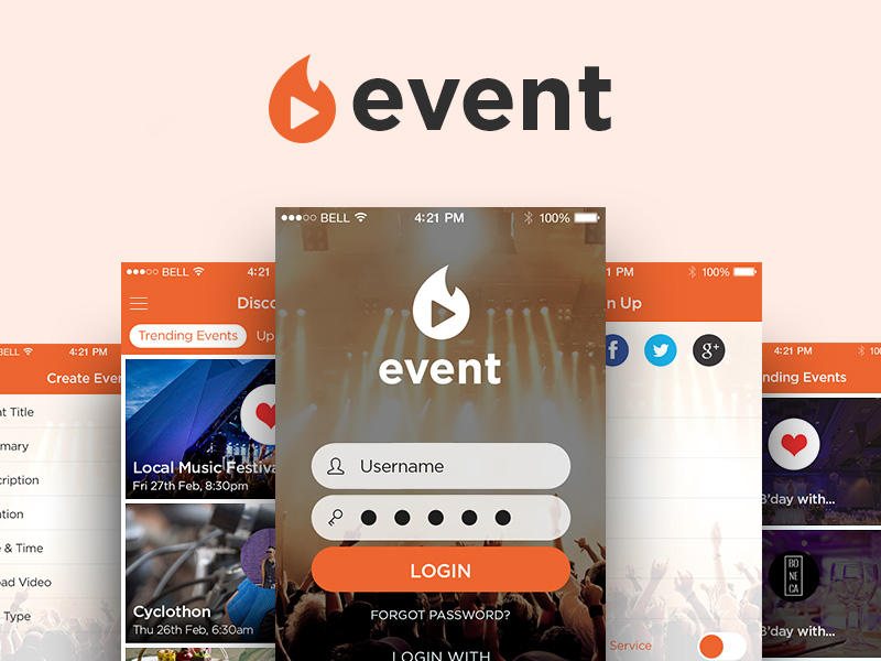 Event Mobile App UI Kit Free