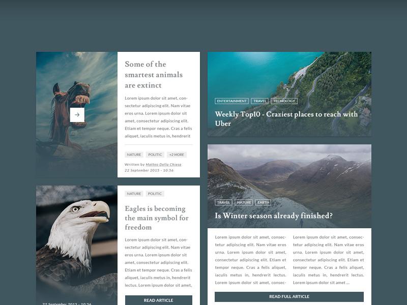 Blog and Magazine UI Kit Free