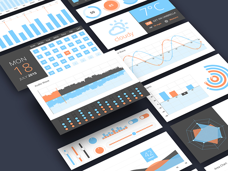 Infographics UI Components Free