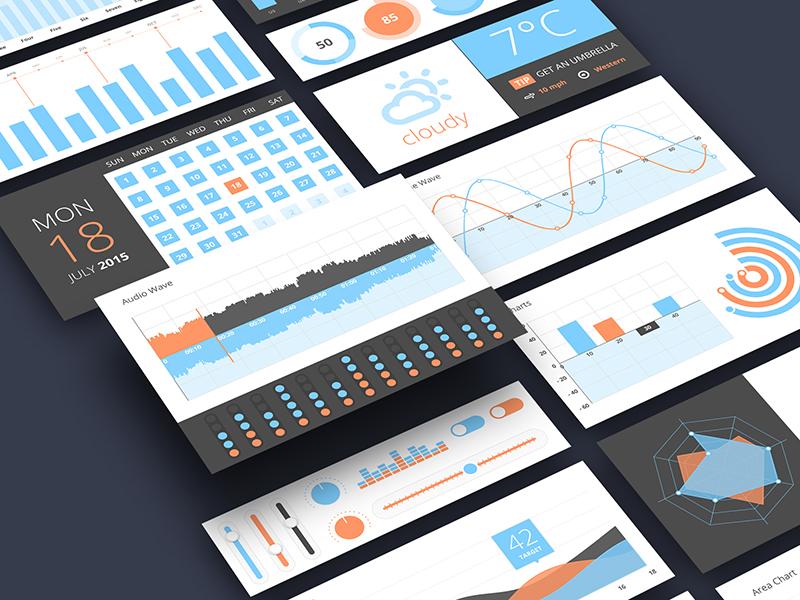 Infographics UI Components Free