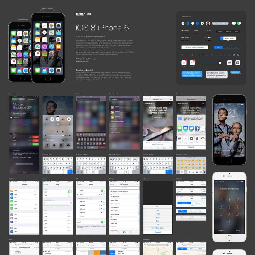 IOS 8 GUI Element Kit Free
