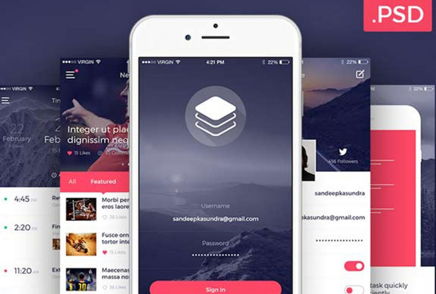 Clean and Modern iOS UI Kit Free