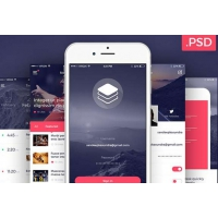 Clean and Modern iOS UI Kit Free