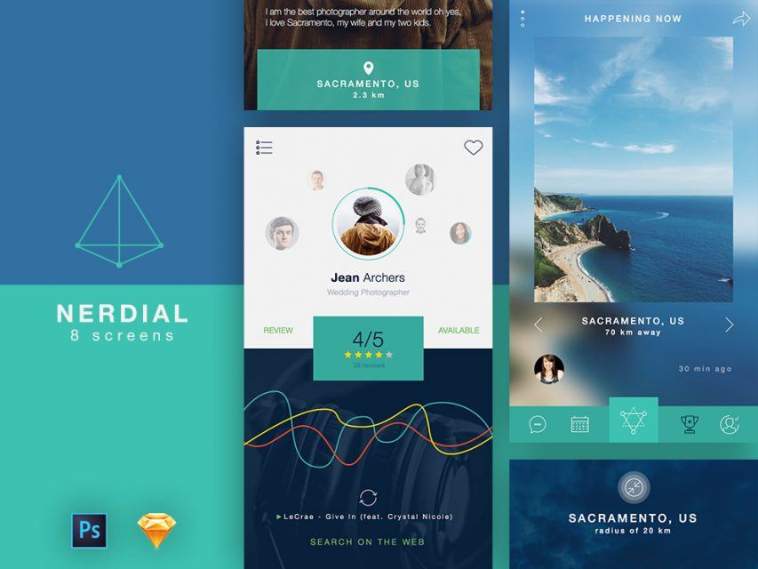 People and Places Search App UI Free