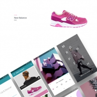 Modern Fashion App Material UI Kit Free