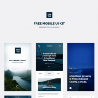 Travel Magazine Mobile App UI Kit Free