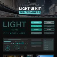 Dark Style UI Kit Elements Free
